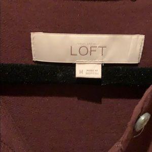 LOFT Tops - Loft deep burgundy blouse